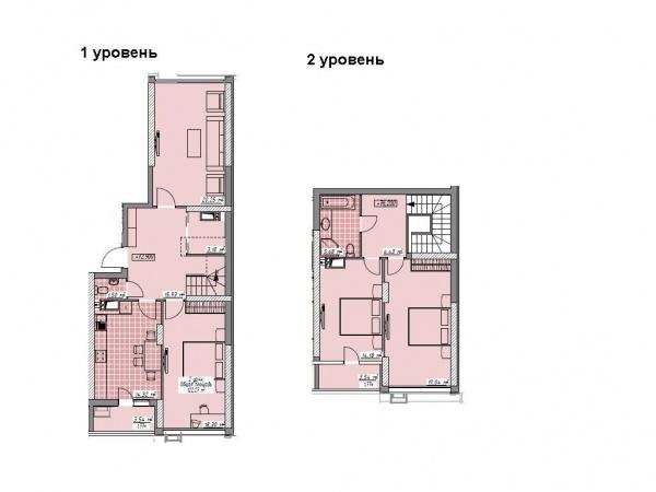 Планировки многокомнатных квартир 122.27 м^2